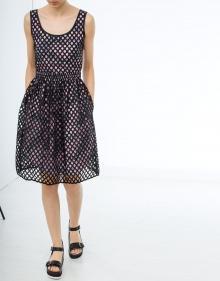 Printed cuadrillé dress CARVEN