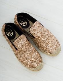 Gold glitter sandals ASH