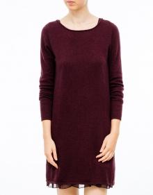 Lace and knit dress - bordeaux TWIN-SET