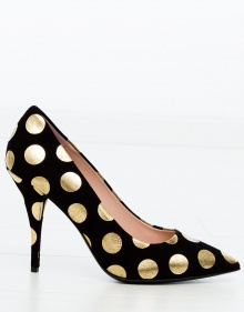 Polka dot suede pumps BOUTIQUE MOSCHINO
