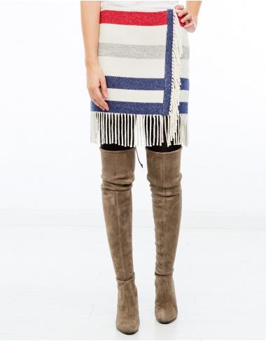 moda-50 Falda rayas y flecos PAUL & JOE