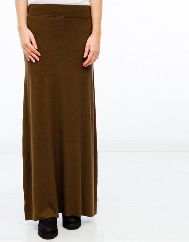 moda-50 Falda larga marrón AMERICAN VINTAGE