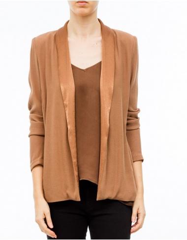 moda-50 Americana cuello raso - marrón AMERICAN VINTAGE