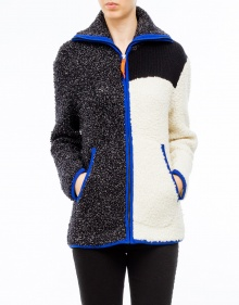 Cardigan cremallera tricolor T BY ALEXANDER WANG