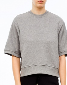 Sudadera over vivo contraste - gris T BY ALEXANDER WANG