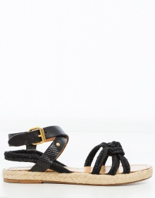 CAMILA Esparto Sandals - black ISABEL MARANT ETOILE