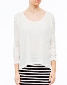 Camiseta viscosa clásica - blanco T BY ALEXANDER WANG