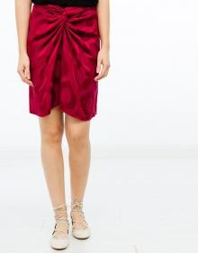 SOPHY - Moiré fabric skirt - bordeaux ISABEL MARANT
