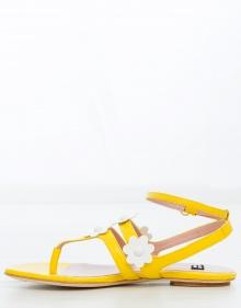Sandalia plana margaritas - amarillo BOUTIQUE MOSCHINO