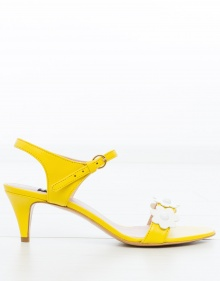 Sandalia tacón margaritas - amarillo BOUTIQUE MOSCHINO