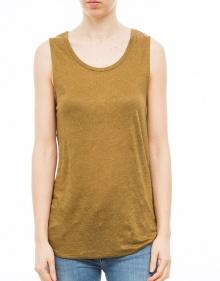 Sleeveless linen t-shirt AMERICAN VINTAGE