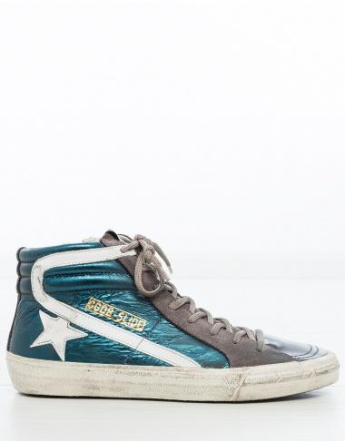 calzado- Sneaker Slide GREEN SHADES GOLDEN GOOSE DELUXE BRAND