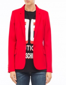 Fitted wool blazer - red BOUTIQUE MOSCHINO