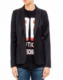 Fitted wool blazer - black BOUTIQUE MOSCHINO