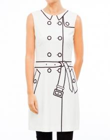 Vestido ml print botones blanco BOUTIQUE MOSCHINO