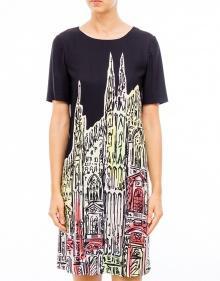 Vestido estampado Duomo BOUTIQUE MOSCHINO