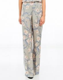 Pantalón flores franja lateral - celeste TWIN-SET