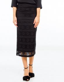 Falda midi encaje-Negro TWIN-SET