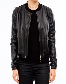 Leather and velvet jacket TWIN-SET