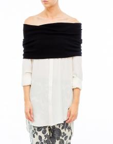 Camisa con cuello de punto TWIN-SET