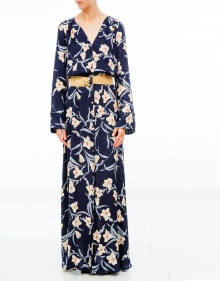 Long flowered dress TWIN-SET