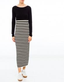 Long stripped dress TWIN-SET