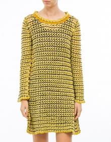 C/Vestido rayas punto-Amarillo TWIN-SET