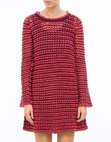 C/Vestido rayas punto-Rosa TWIN-SET