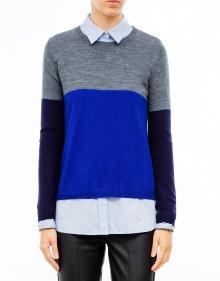 Jersey fino tricolor-Azul TWIN-SET
