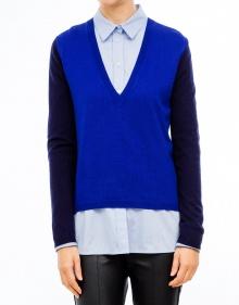 Jersey pico fino tricolor - Azul TWIN-SET