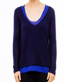 Two pieces bicolor jumper - Blue TWIN-SET