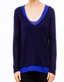 Jersey dos piezas bicolor - Azul TWIN-SET