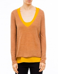 Two pieces bicolor jumper - Yellow TWIN-SET