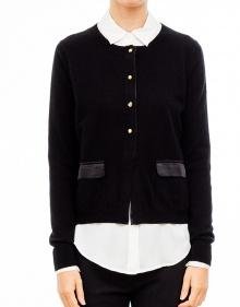 Swarovsky buttons cardigan-Black TWIN-SET