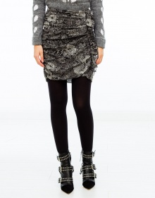 IPSO printed silk skirt - Black ISABEL MARANT