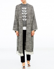 IBAN long coat fringes ISABEL MARANT