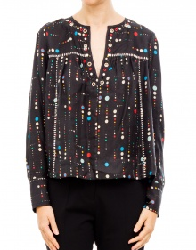 RAYNOR - Embroided printed shirt ISABEL MARANT