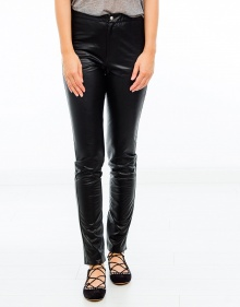 JEFFERY Pantalón easy leather - Negro ISABEL MARANT ETOILE