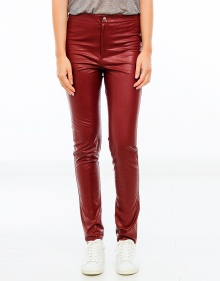JEFFERY easy leather trousers - Wine ISABEL MARANT ETOILE