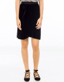 LINORE smooth velvet skirt - Black ISABEL MARANT ETOILE