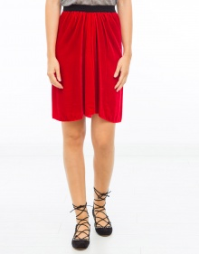 LINORE smooth velvet skirt - Red ISABEL MARANT ETOILE