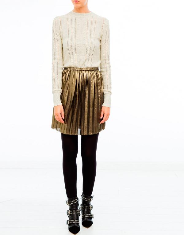 fashion marant etoile manda lame pleated skirt