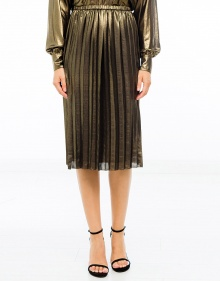 MALDEN Falda midi plisada lamé ISABEL MARANT ETOILE