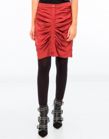 Hotta shirred skirt - Bordeaux ISABEL MARANT ETOILE