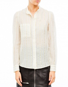 SAMSON cotton lurex shirt - White ISABEL MARANT ETOILE
