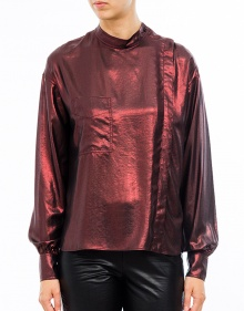 MELVA Asymmetrical Shirt - Red ISABEL MARANT ETOILE