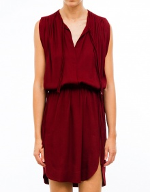 NICKY creppe tapes dress - Wine ISABEL MARANT ETOILE