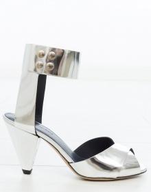 MEGAN - Metallic heel sandal