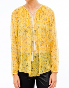 Chiffon blouse flowers THE KOOPLES