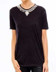 T-shirt necklace metal pieces THE KOOPLES